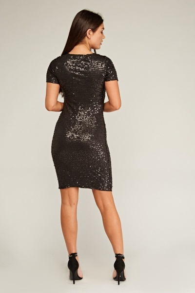Sequin Embellished Bodycon Dress