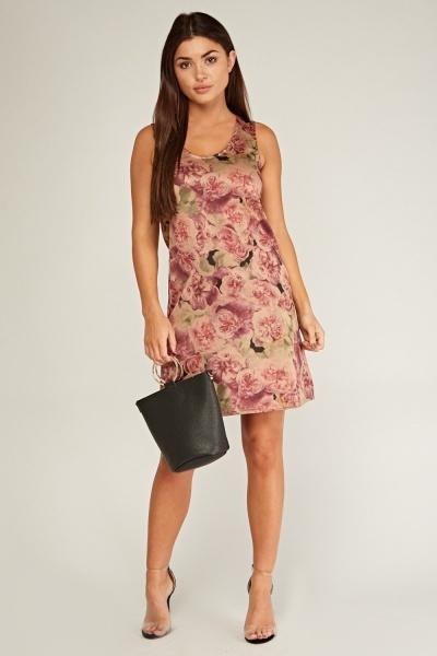 Vintage Rose Shift Dress