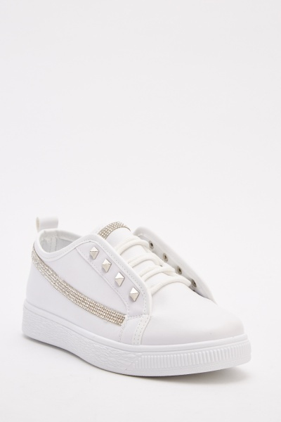 Embellished Low Top Trainers