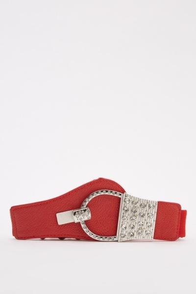 Contrast Encrusted Belt