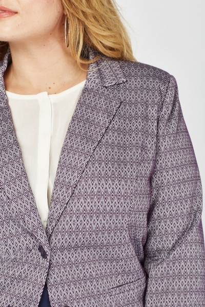 Double Breasted Printed Blazer