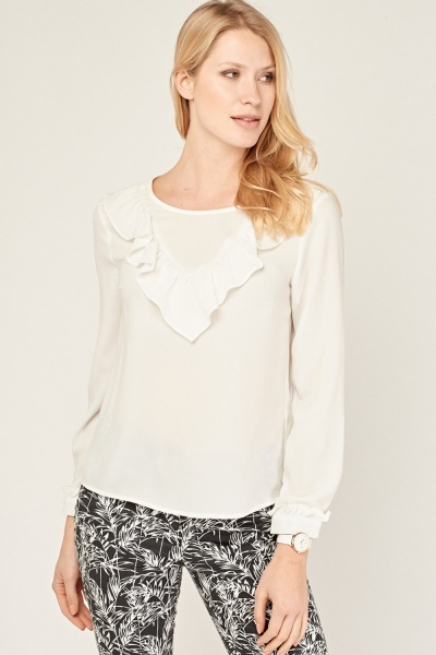 Frill Trim Blouse
