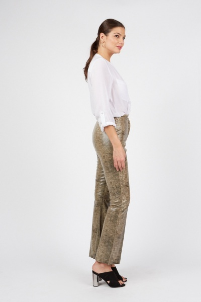 Animal Printed PU Trousers