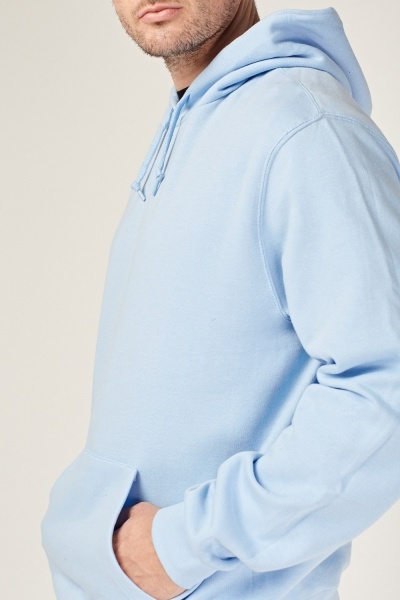Light Blue Long Sleeve Hoodie