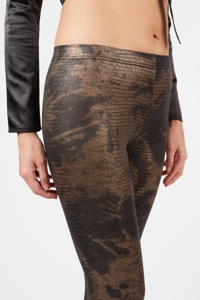 Metallic Pattern Leggings