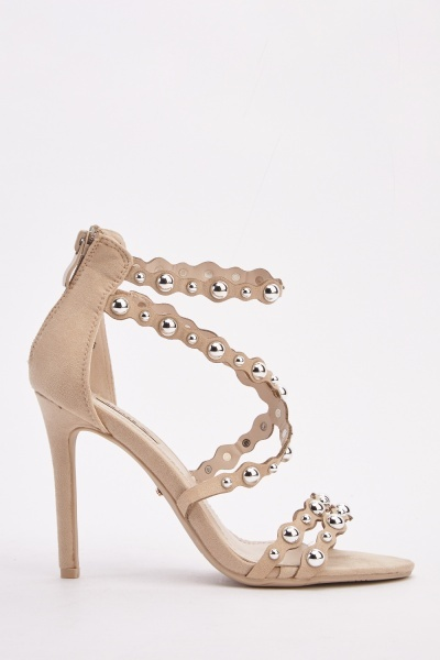 Embellished Strappy Heeled Sandals