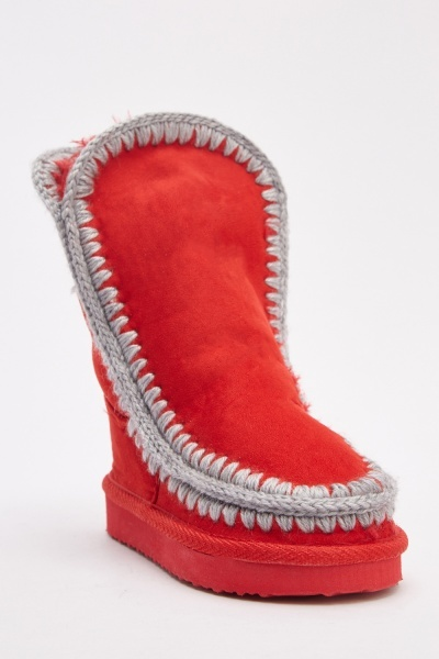 kid's suedette winter boots