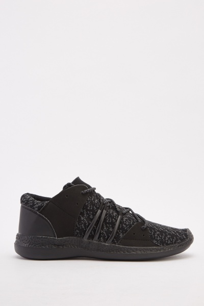 Men's Lace Up Knit Trainers