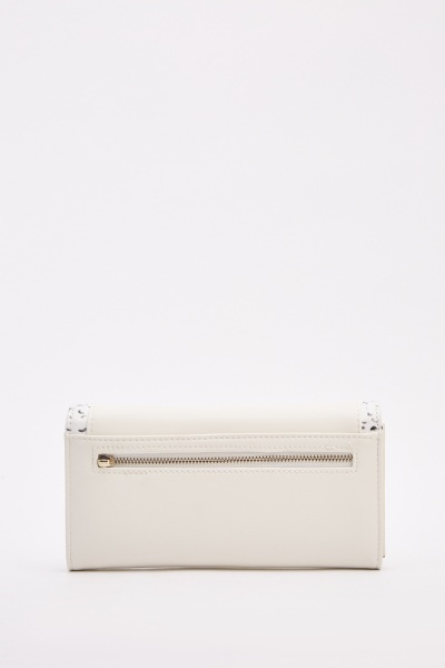 Mock Croc Detail Envelope Purse