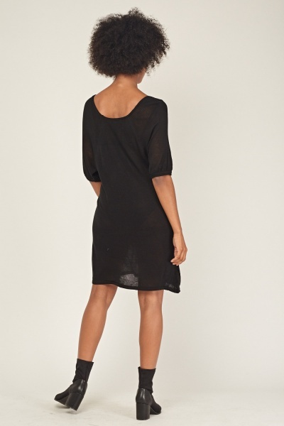 Batwing Knitted Casual Dress