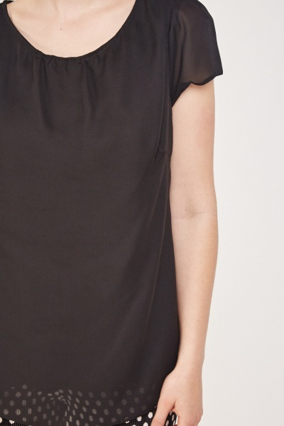 Sheer Cap Sleeve Shell Top