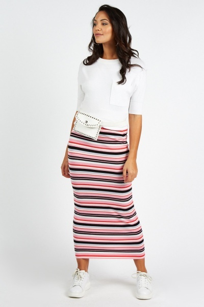 Candy Striped Maxi Skirt