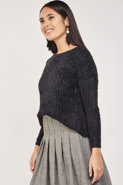 Fluffy Knitted Fleece Jumper