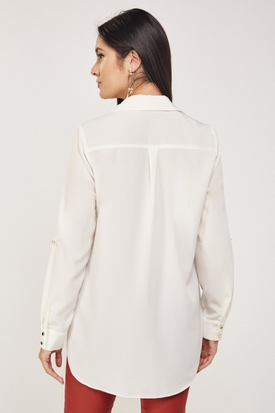 Sheer Long-Line Shirt