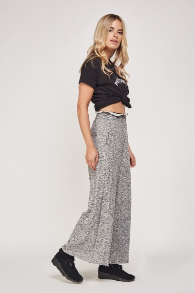 High Waisted Speckled Wide Leg Pants