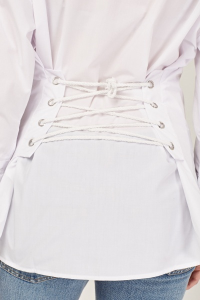 Lace Up Corset Back Shirt