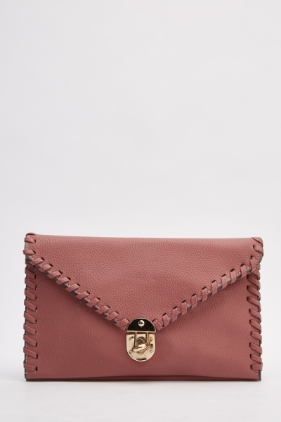 Envelope Classic Faux Leather Clutch