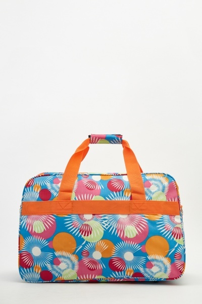 Retro Printed Travel Bag