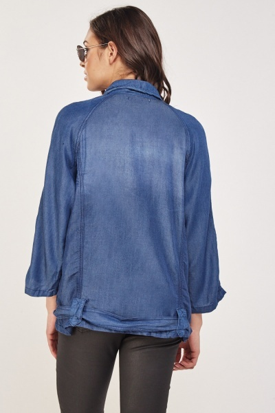 Flap Pockets Front Light Jacket