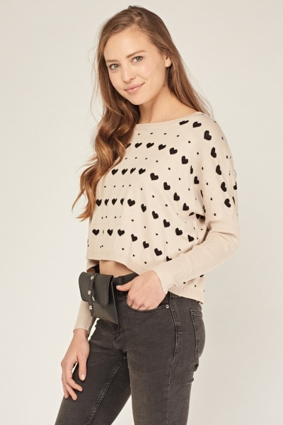 Heart Knitted Jumper