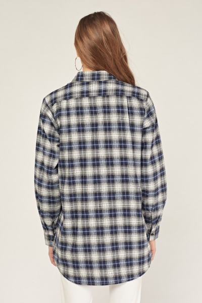Plaid Embroidered Shirt