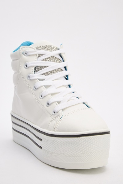 Lace Up Chunky Platform Sneakers