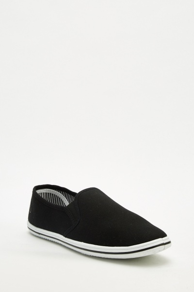 Men's Textured Slip-On Plimsolls