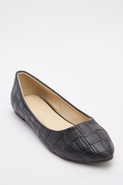 Weave Textured Flat Pumps