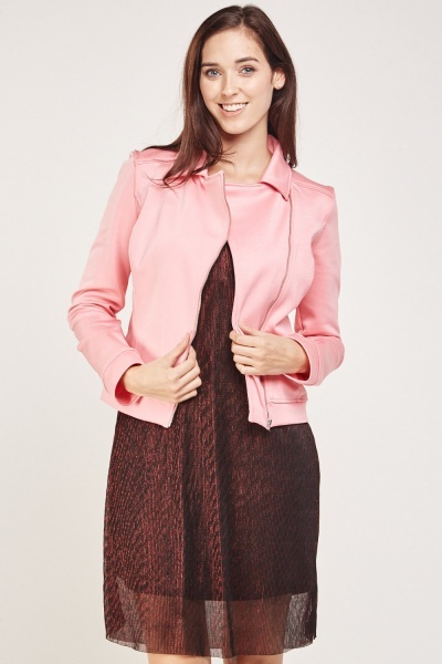 Asymmetric Zip Front Jacket