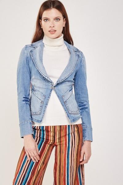 Lapel Front Denim Jacket