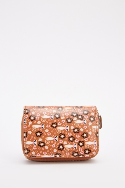 Multi Printed Contrast Purse