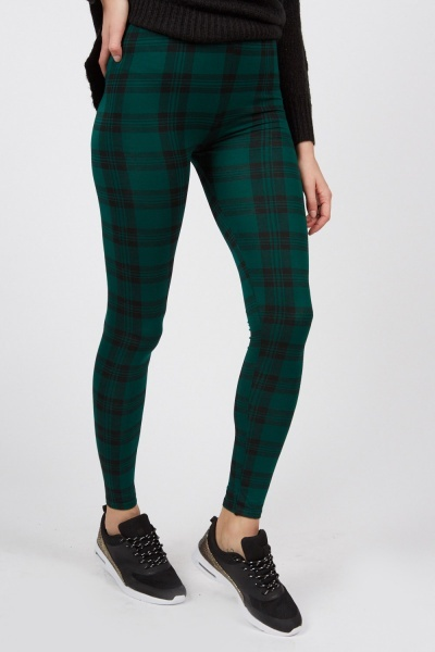 Casual Plaid Leggings