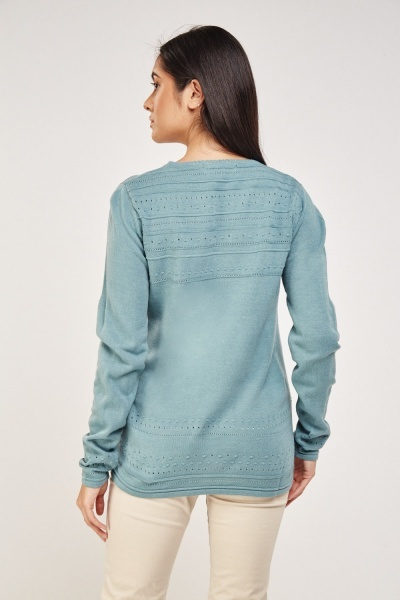 Laser Cut Knitted Pullover