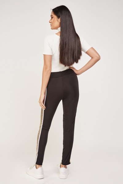Stripe Side Contrast Leggings