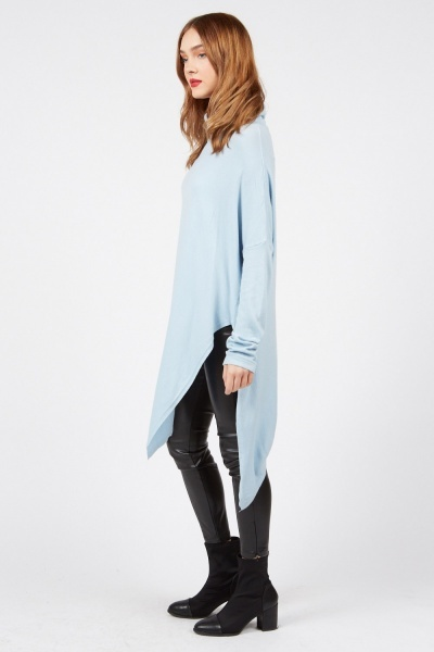 Asymmetric Roll Neck Top