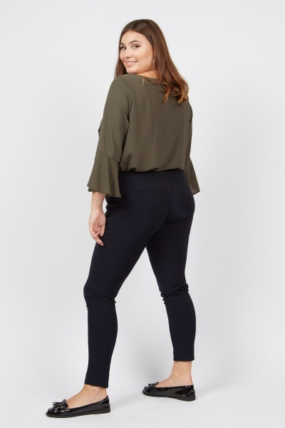 Detailed Waist Skinny Trousers