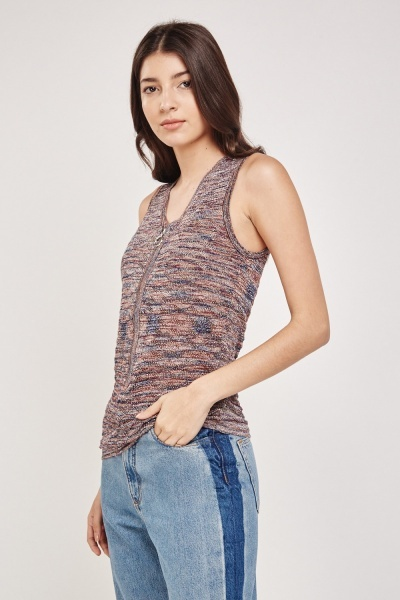 Metallic Loose Knit Top