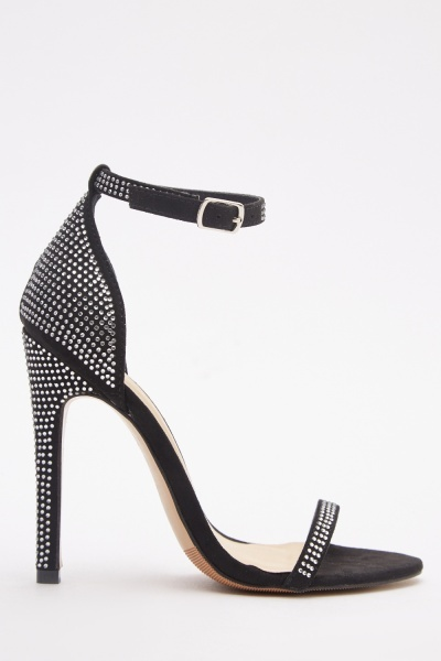 Encrusted High Heel Sandals