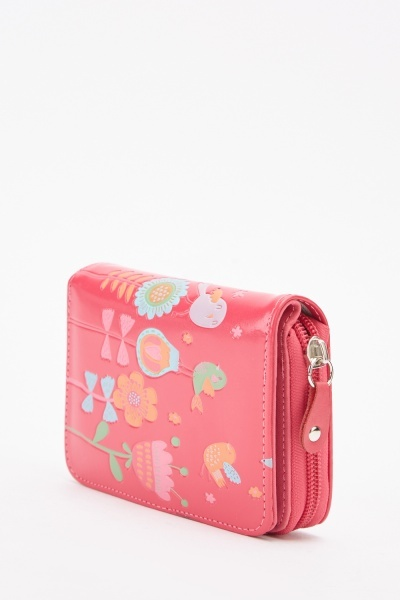Floral Embossed Purse