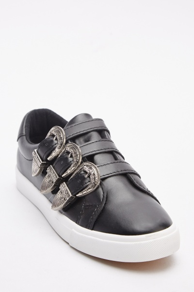 Triple Buckle Trim Plimsolls