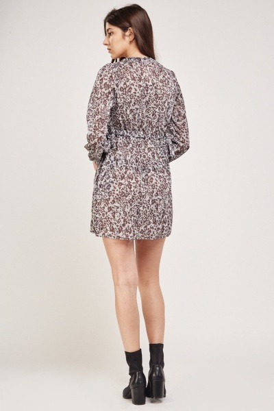 Animal Print Lurex Tea Dress 3 Colours Just 163 5