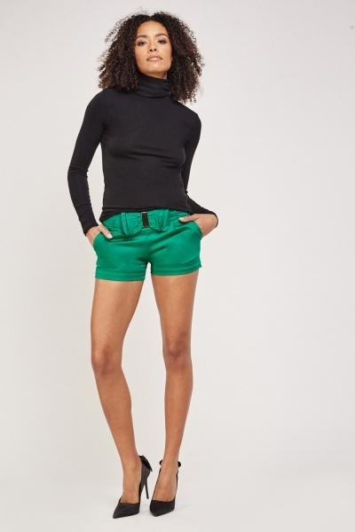Bow Waist Short Shorts
