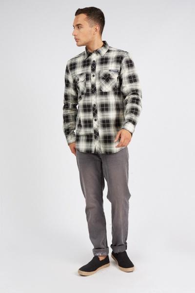Plaid Mono Checked Shirt