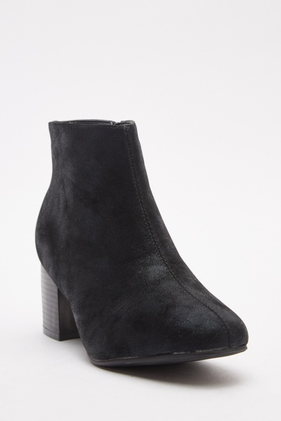 Shimmery Suedette Ankle Boots
