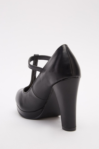 T-Strap Mary Jane Platforms