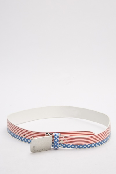 American Flag Printed Belt