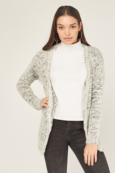Fluffy Speckled Cardigan