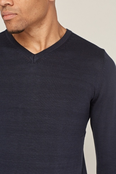 Ribbed Fine Knit Pullover