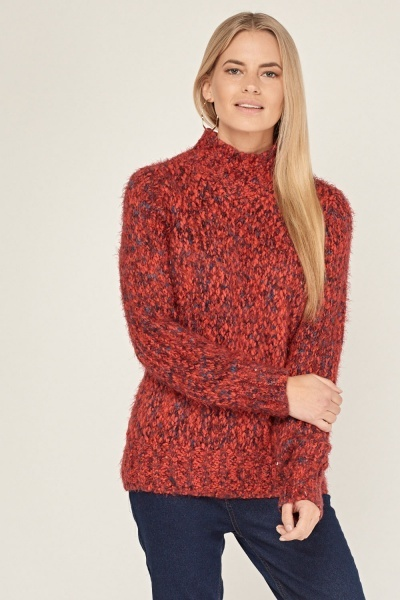 Speckled Eyelash Chunky Jumper