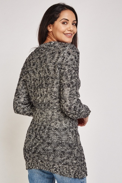 Metallic Speckled Knitted Jumper